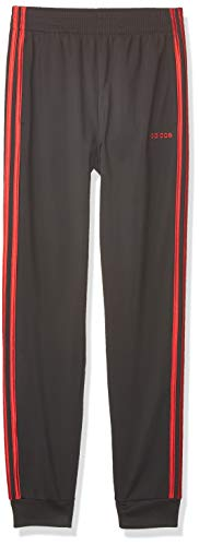 adidas Boys' Little Active Sports Athletic Tricot Jogger Pant, Core Linear Black/Scarlet, 7
