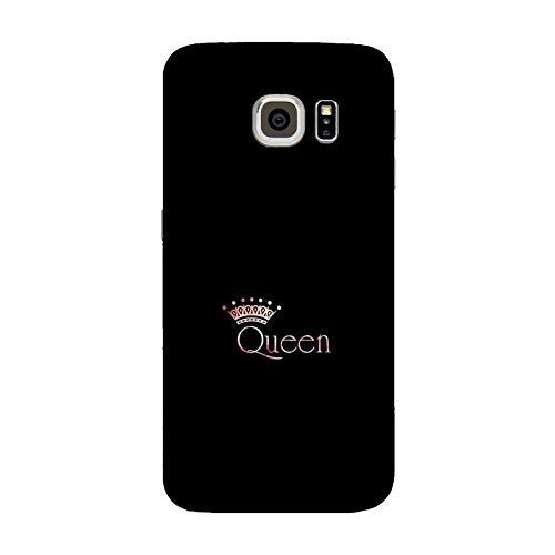 Cover Galaxy S6 Edge | G9250 Custodia Compatibile per Samsung Galaxy S6 Edge | G9250 Coppia Amanti Fidanzato Fidanzata Amore Queen Regina/Stampa Anche sui Lati/Phone Hard Snap su Antiscivolo antis