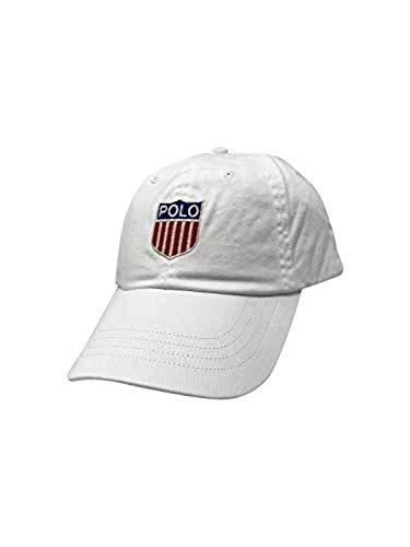 Ralph Lauren Mens Polo Sports Pony Logo Hat Cap (One Size, White/Chariotsoffire)