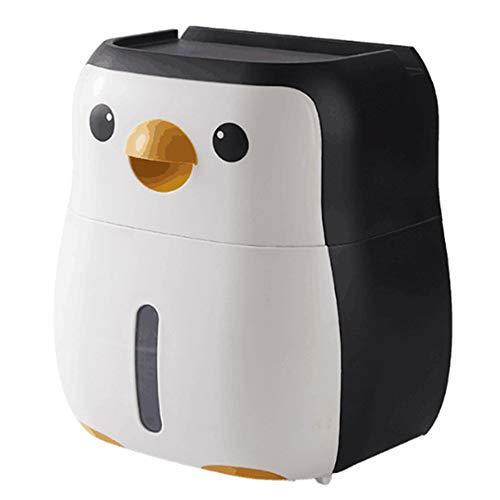 JVSISM Soporte de Papel HigiéNico Penguin Free Punch Paper Roll Holder Tubo Aseo Colgante Wall Roll Box Producto de Ba?O