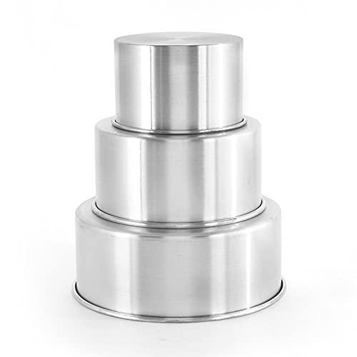Jogo 3 Forma Assadeira Bolo Redonda Alta 15-20-25 x 10 cm Altura Aluminio