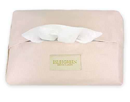 ESLESGREEN Funda para pañuelos bebé - Estuche para caja de pañuelos bebé algodón orgánico (PINK)