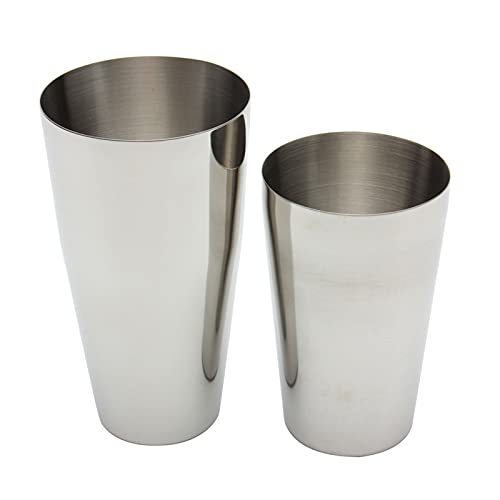 Cocktail Shaker Set, Professional Boston Shaker Set with 18oz Unweighted & 28oz Weighted, Stainless Steel Martini Shaker for Bartending and Home Bar, Premium Bar Tools for Bartender