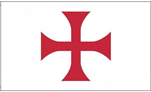 U24 Flagge Fahne Tempelritter Kreuz Templer Orden 90 x 150 cm