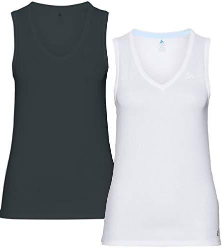 Odlo Suw Top V-Ausschnitt Singulett Active Cubic Light Camiseta Interior para Mujer. Mujer