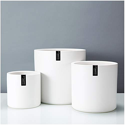 Fopamtri Plant Pot Set Matte White Ceramic Planter for Indoor Outdoor Plants Flowers Small 6