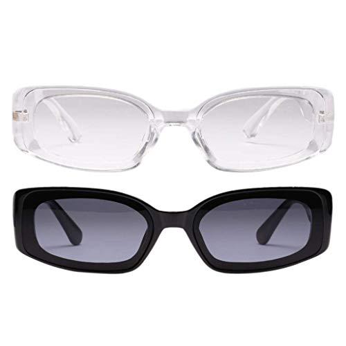 2 piezas de gafas de sol vintage Gafas transparentes UV400 Verano