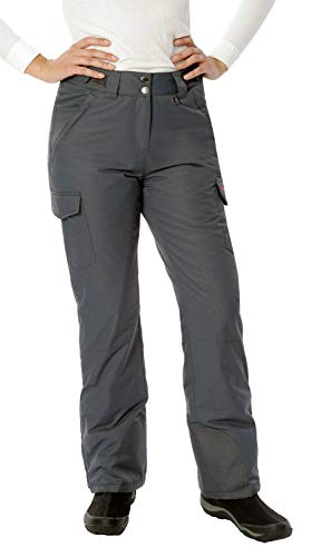 Arctix Women's Snow Sports Insulated Cargo Pants, Steel, Small (4-6) Short