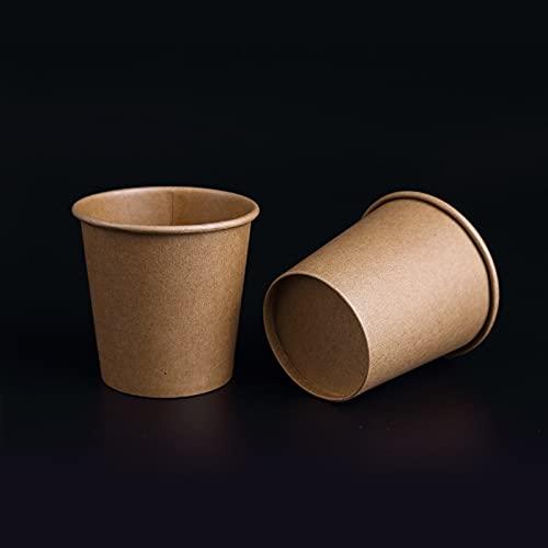 PPuujia Pequeñas tazas de papel Kraft desechables para beber café, té, leche, suministros para fiestas (número de piezas: 20 unidades)