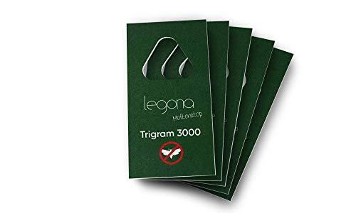 Legona® - Schlupfwespen gegen Kleidermotten / 5X Trigram-Karte à 1 Lieferung/Effektive & Biologische Bekämpfung von Textilmotten/Alternative zu Mottenspray und Mottenkugeln