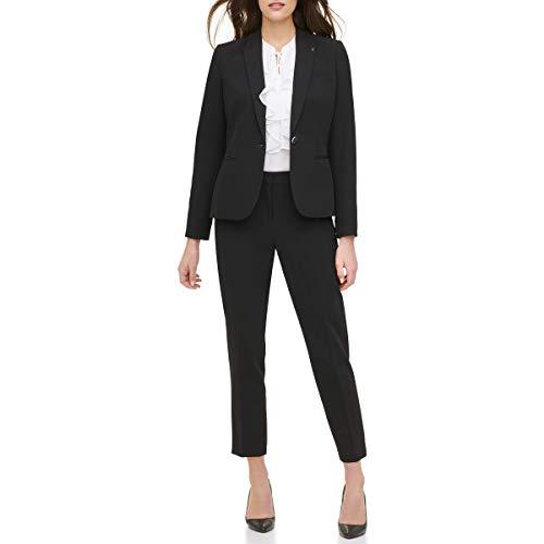 Tommy Hilfiger Women's One Button Blazer, Black, 0