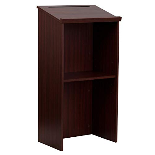 Flash Furniture Mahogany Stand-Up Lectern
