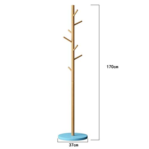Alvnd bamboe kapstok met 7 haken om kleding op te hangen, hoeden, standaard met robuust en strak ontwerp, perfect voor entree of hal, eenvoudige montage