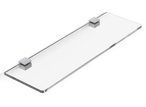 Mensola in Plexiglass Trasparente 50x15 cm spessore 8mm con reggi mensola, arredo casa, ufficio, negozio