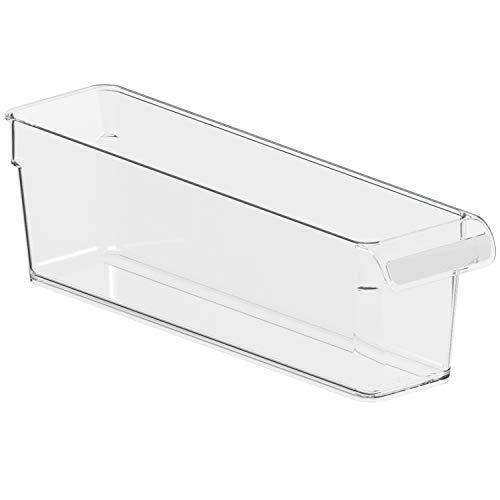 Rotho Loft Kühlschrankorganizer 1,6l, Kunststoff (SAN) BPA-frei, transparent, S/1,6l (31,0 x 7,5 x 9,0 cm)