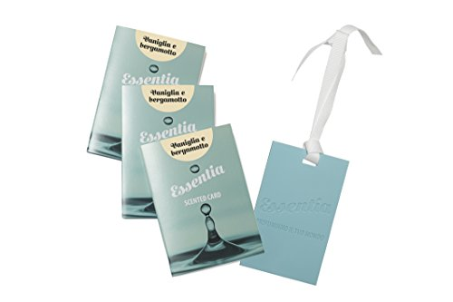 ESSENTIA CARDS PROFUMATE AL SILICONE- SET 3 CARDS FRAGRANZA VANIGLIA E BERGAMOTTO, IDEALI PER PROFUMARE CASSETTI,ARMADI,BORSE,AUTO.