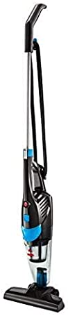 Bissell Featherweight Pro Vertical para Suelos Duros con Aspirador de Mano extraíble, 450 W, 0.5 litros, 78 Decibeles, 18/8 Acero, Titán/Azul