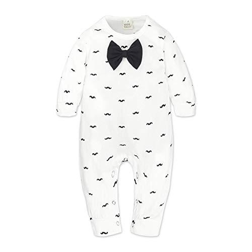 Bebé Mameluco Monos de Algodón Niños Niñas Body Manga Larga Unisexo Peleles para Dormir Comodo Pijama de Recien Nacido, 6-9 Meses