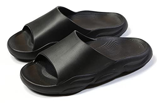 Zapatillas Unisex Con Almohadas, Sandalias De Secado RáPido SúPer Suaves, Zapatos De Verano Para Interiores Y Exteriores (Negro, 40 EU)