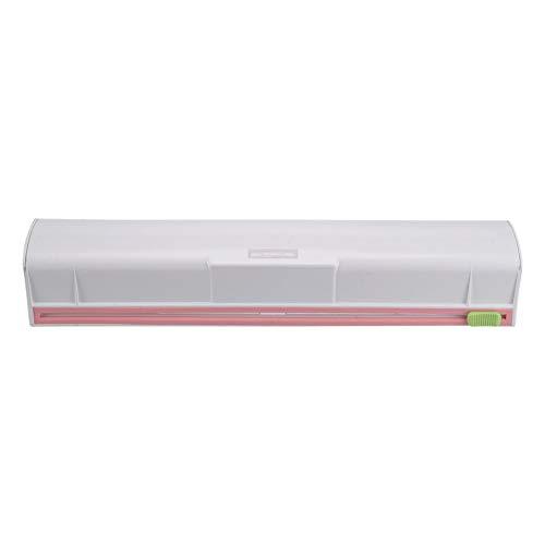 Majome 35 * 7 * 6cm Food Wrap Dispenser Plastic Cutter Foil Cling Film Storage Holder Box
