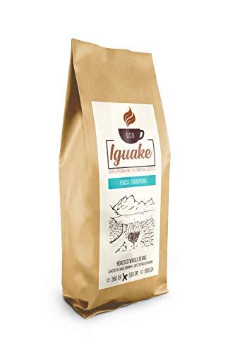 Iguake Coffee 500gr | Premium Kaffee ganze Bohnen 100% Arabica aus Kolumbien | Familienbetrieb - Single Origin Kaffeebohnen - Nachhaltige eigene Plantage im Hochland - Kräftiges Aroma