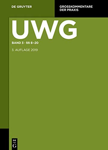 §§ 8-20; Register (Großkommentare Der Praxis) (German Edition)