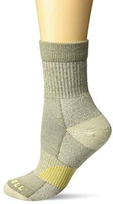 Merrell Women's 1 Pack Cushioned Lightweight Hiker Crew Socks, Brindle, Shoe Size: 4-9.5