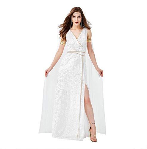 DUORUI - Disfraz de diosa de la antigua Grecia para disfraz de cosplay para Halloween, carnaval, actuacin de mascarada con cinturn de diadema