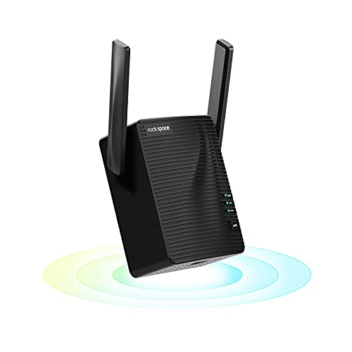 rockspace WiFi Range Extender Signal Booster - Dual-Band Wireless Internet Repeater up to 24+ Devices and 1292 sq. Ft, Long Range Amplifier w/ Ethernet Port, Access Point, WPS Setup