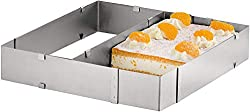 Axentia baking frame, stainless steel, silver, 37 x 44 x 5 cm, infinitely adjustable
