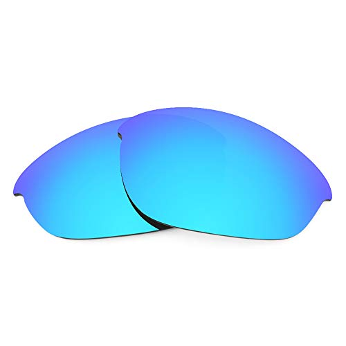 Revant Verres de Rechange Compatibles avec Oakley Half Jacket, Polarisés, Bleu Glacier MirrorShield