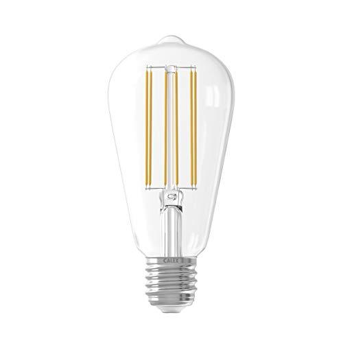 LED de larga filamento regulable rústico lámparas 240V, E27ST64, transparente