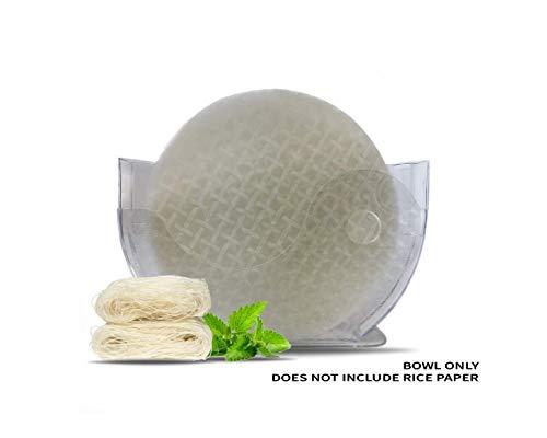 Reispapier- und Wasserschüssel-Halter (für bis zu 27 cm Reispapier) für frische Frühlingsrolle
