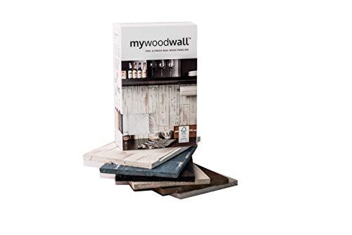 mywoodwall Wandverkleidung Holz - MUSTERBOX - Arcadian Kollektion - 6 Dekoren-Muster