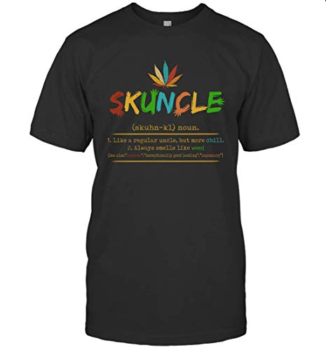 Dilostyle Skuncle Like A Regular Uncle But More Chill Shirt 98 T-Shirt (Black;L)