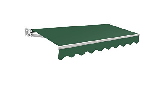 Primrose 2m Manual Awning - Plain Green Kensington DIY Patio Awning Gazebo Canopy Complete with Fittings and Winder Handle