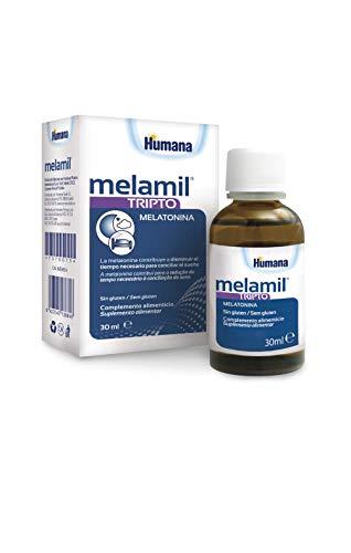 MELAMIL Tripto de Humana - Complemento Alimenticio a base de melatonina, triptófano y vitamina B6, que ayuda a conciliar el Sueño; 30ml
