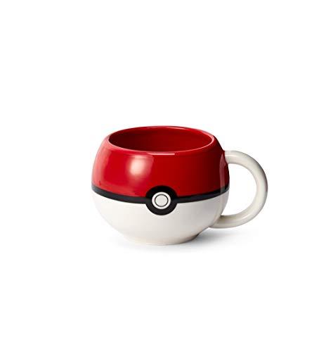 Taza moldeada oficial Pokemon Pokeball – Taza de cerámica de 10 onzas para café caliente, té, cacao