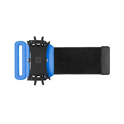 BESPORTBLE Braçadeira de Corrida Suporte de Telefone de Treino Rotativo Resistente Ao Suor Braço Do Telefone de Esportes Braçadeira para O Braço Telefone Celular Azul