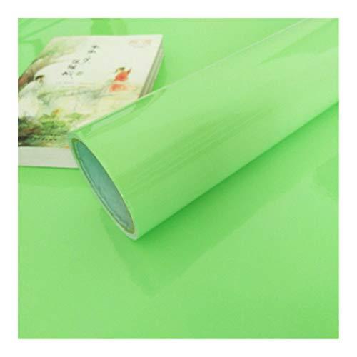 HDS 1M / 2M Moderne Wohnzimmer-Möbel Tischwasserdicht Marmor Tapeten Vinylselbstklebenden Kontakt Papier Solid Color Home Decor (Color : Shiny Light Green, Dimensions : 40cm x 2m)