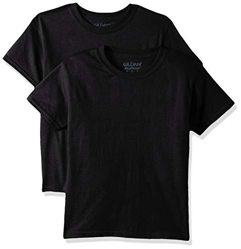 Gildan Kids DryBlend Youth T-Shirt, 2-Pack, black, Large