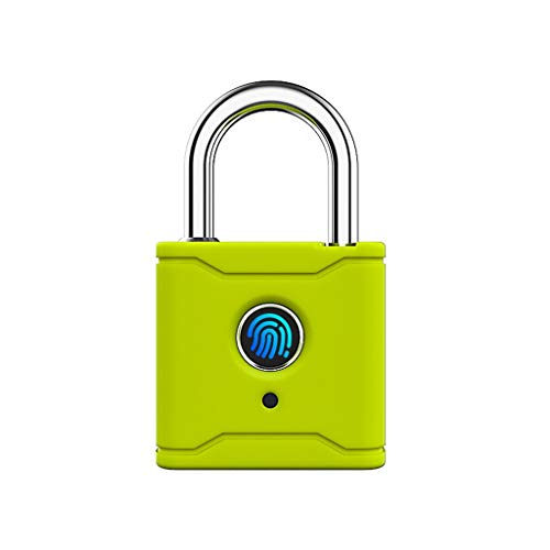 TWDYC Bluetooth Smart Lock Lock Fingerprint Lock Smart Lock Senza Chiave con App TTLock (Color : Orange Yellow)