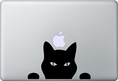 CCI Creative Concept Ideas Cat Peeking Decal Vinyl Sticker|Cars Trucks Vans Walls Laptop|Black|5.5 in|CCI365