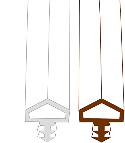 Tappo antivento guarnizione porta, Porta in legno - larghezza scanalatura 3,8 mm/profondità scanalatura 6,5 mm/battuta 12 mm Guarnizioni per finestre guarnizioni in gomma (10M, white)