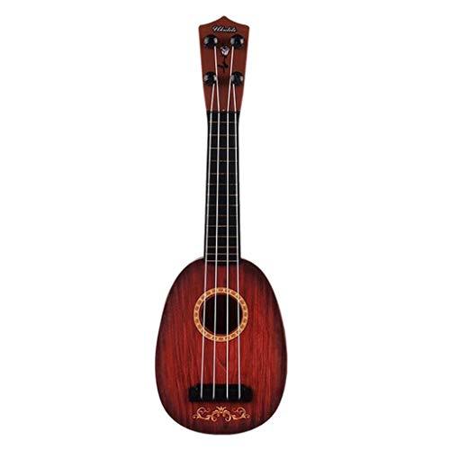 T TOOYFUL Ukulélé Jouet pour Enfants Mini Instrument de Musique Éducatif Apprendre 4 Cordes Guitare Ukulélé Xylophone Jouet Cadeau Enfants 38cm - D