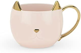 Pinky Up 5384 Chloe Cat Glass, Kitchen Tool and Coffee Cup Mug, and Tea Kettle Accessory, Pink
