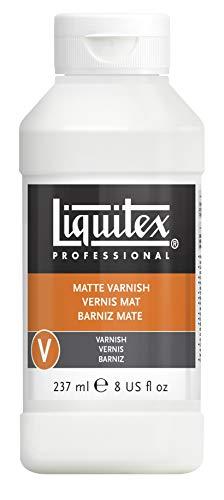 Liquitex 5208 Professional matter Firnis, Schlussfirnis für Acrylfarben - seidenmatte Oberfläche, nicht gilbend, alterungsbeständig, schnell trocknend, Archivqualität - 237ml Flasche, Farblos
