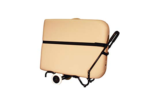 Sporty Massage Table Cart by NRG - Portable Massage Table Carrier Trolley with Rubber Wheels, Telescoping Handle and Strap - Fits All Brands - Sturdy, Light, Durable - Fully Assembled, Ready to Use