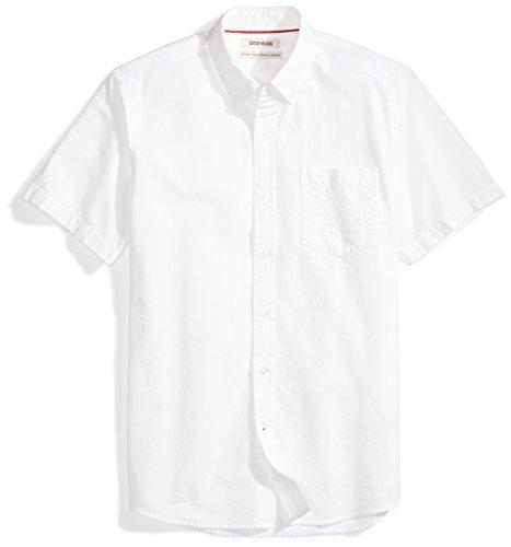 Amazon Brand - Goodthreads Men's Standard-Fit Short-Sleeve Oxford Shirt w/Pocket, White, Large