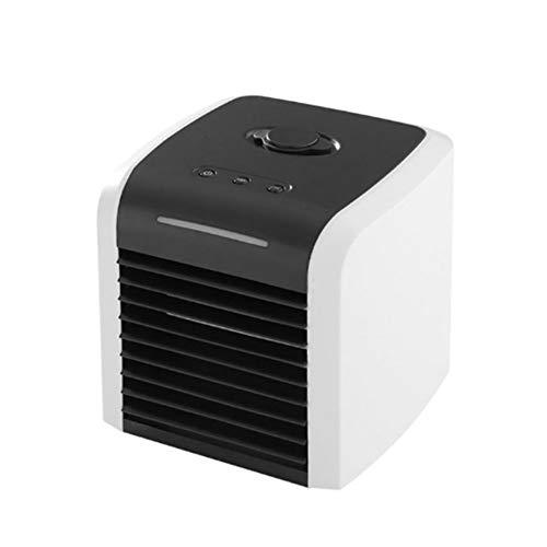 LILIJIA Mini Aire Acondicionado Portátil Enfriador Evaporativo con Humidificador, con Luz De Noche Led Ventilador De Escritorio para Trabajo De Oficina En El Hogar Al Aire Libre